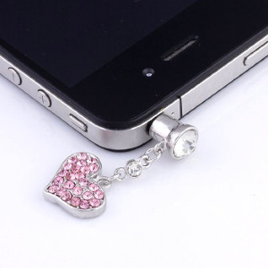Pink Heart Shaped iPhone Plug