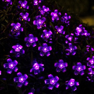 Purple Solar Fairy Flower Lights