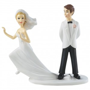 Runaway Bridge Wedding Cake Topper