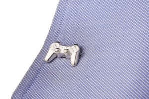 Silver PlayStation Cufflink