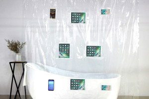 Smart Phone Shower Curtain