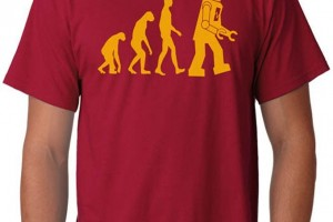 Sheldon's Robot Evolution T-Shirt from The Big Bang Theory