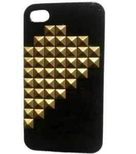 Twin-Hearts Black Half iPhone Case