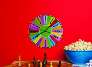 Wheel of Fortune Wall Clock