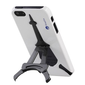 White Eiffel Tower iPhone 5 Stand Case