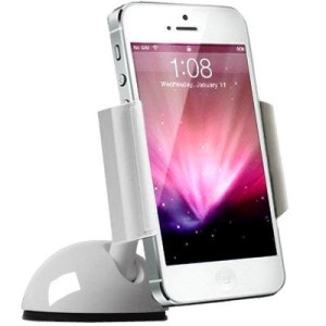 White iPhone Dashboard Holder