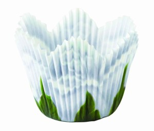 White Rose Petal Cupcake Wrapper
