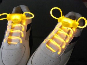 Yellow LED Light Up Shoelaces